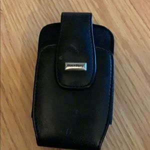 👙Original BlackBerry Black Leather Phone Case
